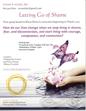 Letting Go of Shame flyer